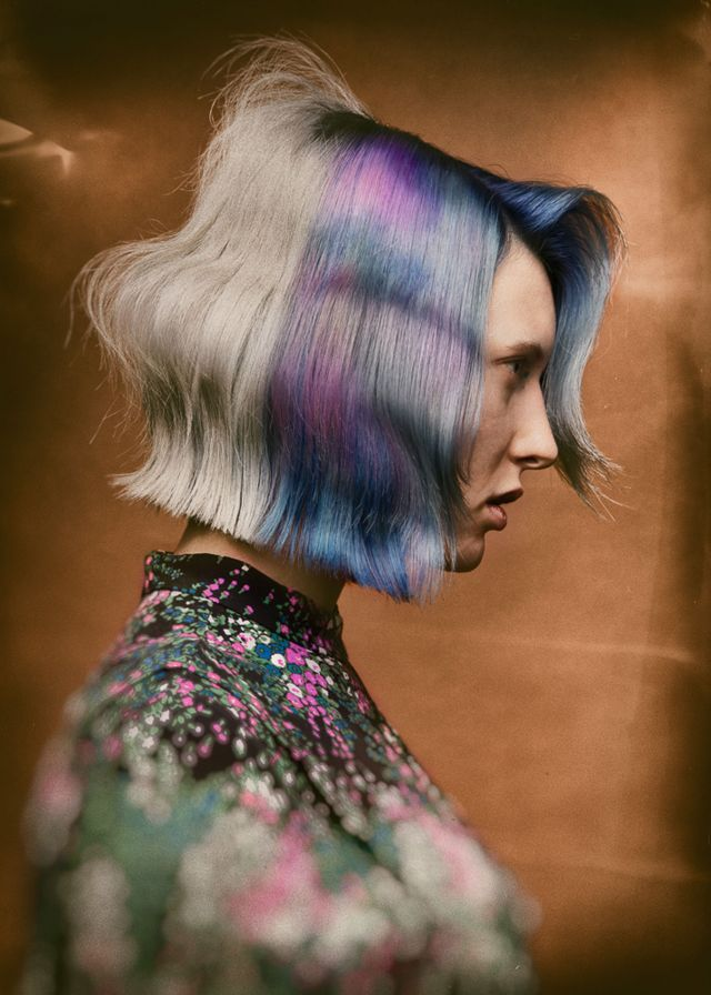 Pattern Colour Kollektion, nominiert für die Hairdressing Awards 2019 Hair: Alex Lepschi  Photo: Stefan Dokoupil  Styling: Alex Lepschi  Makeup: Katharina Irrelevant
