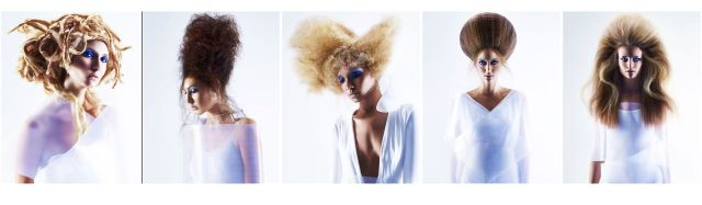 The Celestia Collection   Hair by Charlie Price.. Denver USA   P: John Rawson @ TRP  A: Paul Gill @ TRP  MUA: Taija Pierre  S: Charlie Price  Models : The Donna Baldwin Agency