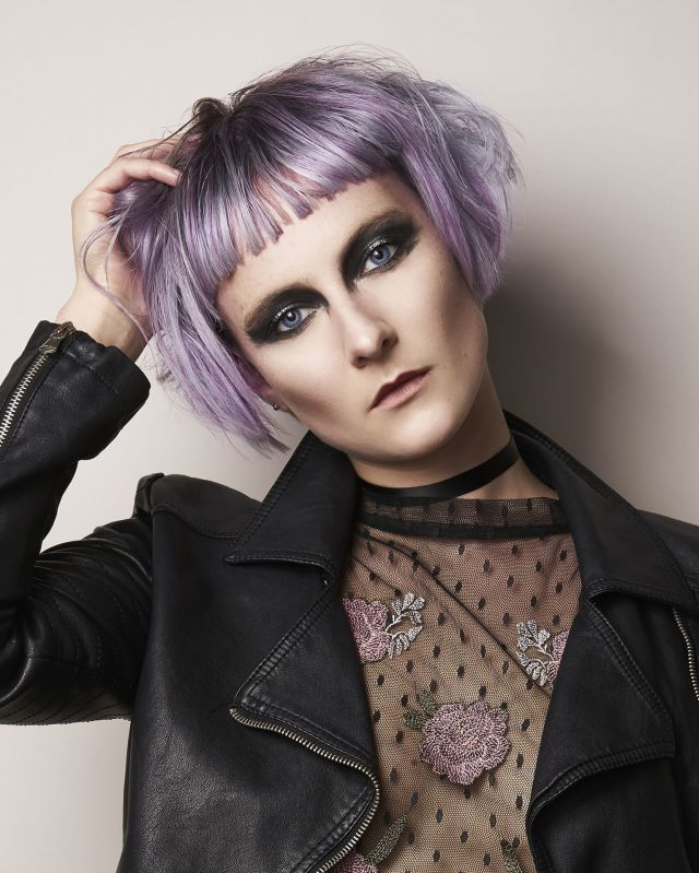 Pretty in Punk Collection from Nelson Hairdressing  -  Hair: Heather Nelson  Photographer: Gabriela Silveira  Make-up: Heather Snowie  Stylist: Emma McVitie