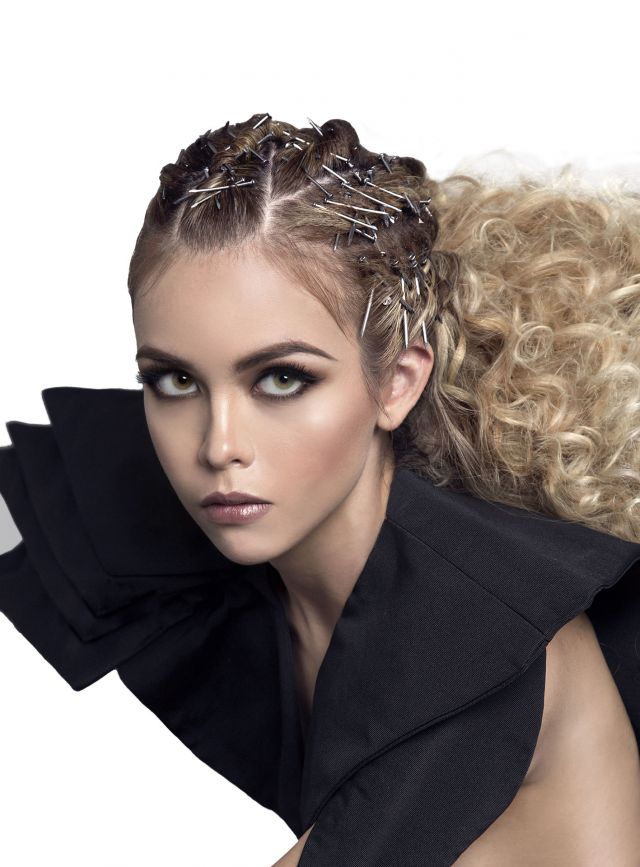 HIGH TEXTURE Collection Hair: Ivan Rodriguez Photographer: Jesús Herrera MUA: Ale Llamas Stylism: Roberto de la Nuva Colour: Chi Products: Biosilk