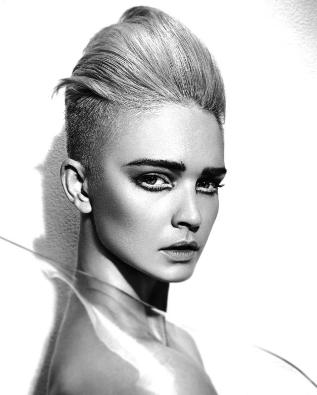 BRITISH HAIRDRESSING AWARDS COLLECTION This is FUTURISM  Hair by Lewis Moore @ Lewis Moore Salons/HD Hair & Beauty, Sutton Coldfield, Streetly & Cannock  Photography by John Rawson @ www.therawsonpartnership.net  Make-up by Hannah Davies  Products by Joico