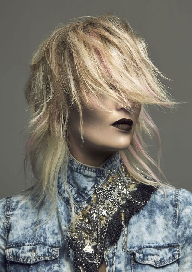 Collection Name: Acid Wash  Hairdresser & Colourist: Stephanie Bellairs Finalist, 2017 AHFA WA/NT Hairdresser of the Year  Salon: Head Graffiti, Western Australia  Photographer: Meiji Nguyen  Make Up Artist: Laura Thomas  Stylist: Stephanie Bellairs