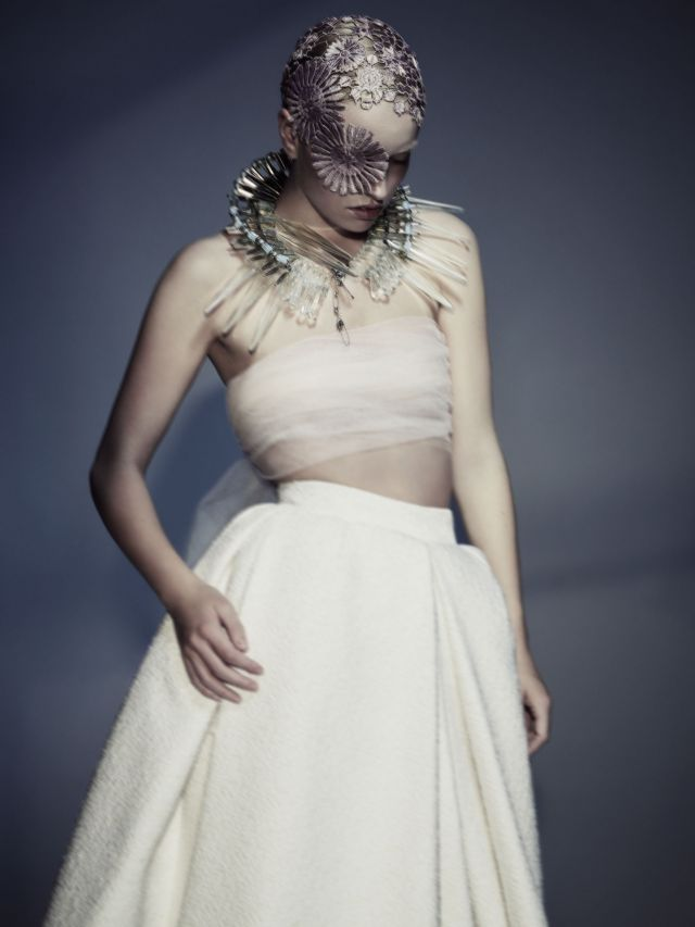 Aura Collection Hair: Sally Brooks, Brooks & Brooks, London   Make-up: Violet Zeng Styling: Ann Shore Photographs: Jenny hands